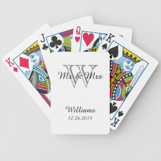CHIC PLAYING CARDS_Mr & Mrs_ON WHITE Bicycle Playing Cards