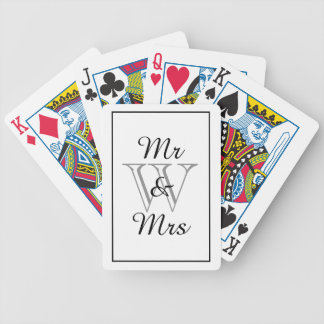 CHIC PLAYING CARDS_Mr & Mrs_WHITE/BLACK/GRAY Bicycle Playing Cards