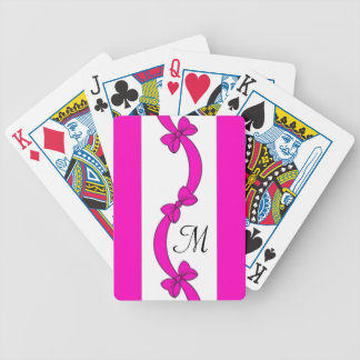CHIC PLAYING CARDS_RIBBONS/BOWS MONOGRAM 220 BICYCLE PLAYING CARDS