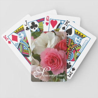 "CHIC PLAYING CARDS_""Summertime"" GARDEN ROSES Bicycle Playing Cards"