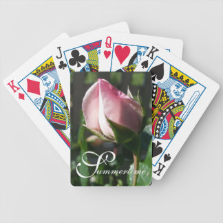 "CHIC PLAYING CARDS_""Summertime"" NEW DAWN ROSE Bicycle Playing Cards"
