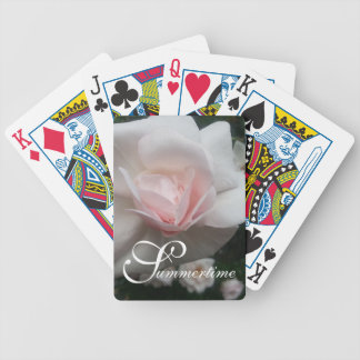 "CHIC PLAYING CARDS_""Summertime"" NEW DAWN ROSES Bicycle Playing Cards"