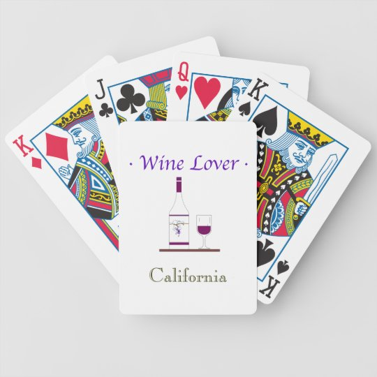 CHIC PLAYING CARDS_WINE LOVER_customize Bicycle Playing Cards
