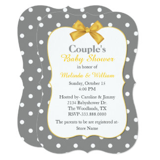 Chic Polka Dot Couple's Baby Shower Invitation