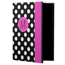 Chic Polka Dot Monogram iPad Air 2 Case