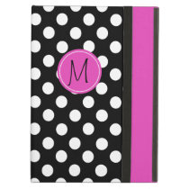 Chic Polka Dot Monogram iPad Air Case