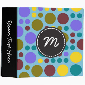 Chic Polka Dot Mosaic Pattern #10 Binder