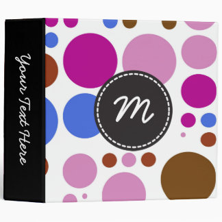 Chic Polka Dot Mosaic Pattern #3 3 Ring Binder