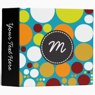 Chic Polka Dot Mosaic Pattern #5 Binder