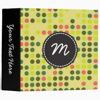 Chic Polka Dot Mosaic Pattern Binder