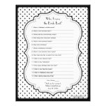 Chic Polka Dots Bride Best Bridal Shower Game Personalized Letterhead