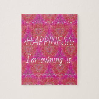 "Chic Pop Culture  Colors ""Happiness: Owning it"" Jigsaw Puzzle"