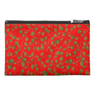 Chic Poppy Buds on Red Accessories Bag