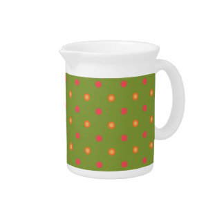 Chic Poppy Colours Polka Dots Pitcher or Jug
