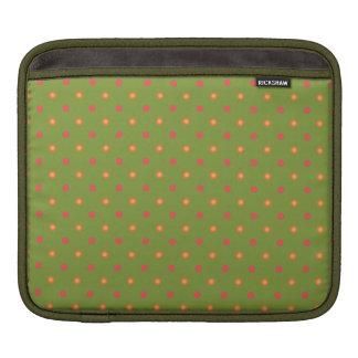 Chic Poppy Colours Polka Dots Rickshaw iPad Sleeve