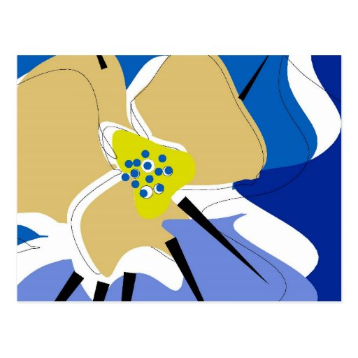 chic postcard ,BLUE PANSY