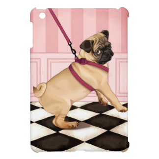 Chic Pug puppy on leash iPad Mini Case
