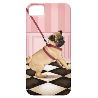 Chic Pug puppy on leash iPhone SE/5/5s Case