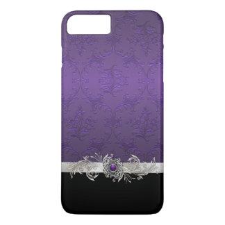 Chic Purple Damask iphone 7 Plus Case