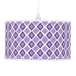 Chic Purple Diamond Ikat Pattern