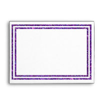 Chic Purple Faux Glittered Trim - Envelope