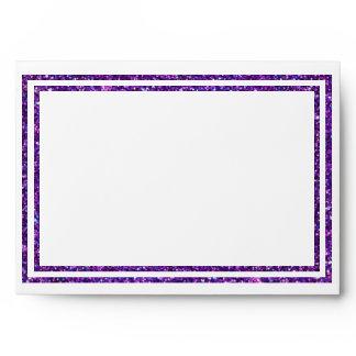 Chic Purple Faux Glittered Trim - Envelope