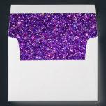"Chic Purple Faux Glittered Trim - Envelope<br><div class=""desc"">Chic Purple Glittered Trim Envelope</div>"