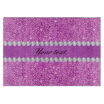 Chic Purple Faux Sequins and Diamonds Cutting Board