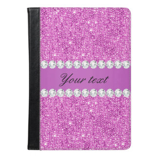 Chic Purple Faux Sequins and Diamonds iPad Air Case