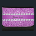 """Chic Purple Faux Sequins and Diamonds Wallet<br><div class=""""desc"""">Glamorous personalized faux purple sequins and diamonds. PLEASE NOTE: These are flat printed graphics - no real sequins, jewels or raised parts. Click on the Customize it / Personalize it button to personalize with your text. If you need any assistance customizing your product please contact me through my store and...</div>"""