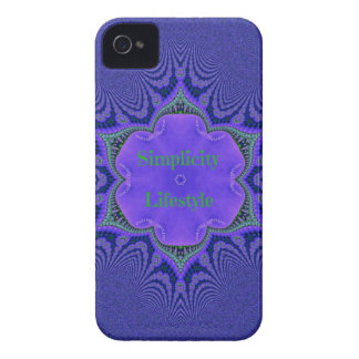 Chic Purple Lavender 'Simplicity Lifestyle' iPhone 4 Cover