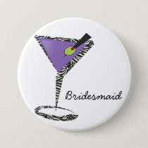 chic purple martini button