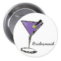 chic purple martini button