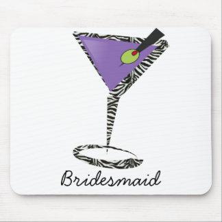 chic purple martini mouse pad