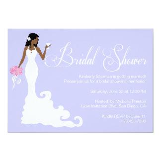 Chic Purple Modern Bride Posh Bridal Shower Invite