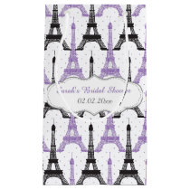 Chic Purple Paris Eiffel Tower Gift Bag