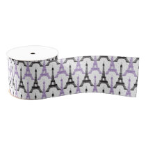 Chic Purple Paris Eiffel Tower Party ribbons