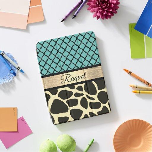 Chic Quatrefoil Giraffe Print       iPad Air Cover