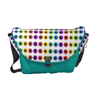 """Chic rainbow """"polka dot"""" bright courier bags"""