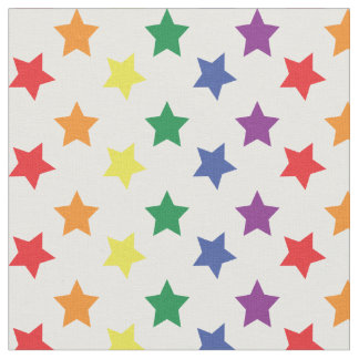 Chic Rainbow Stars Custom Pattern Fabric