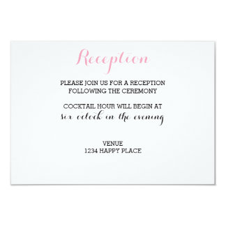 Chic Reception Card
