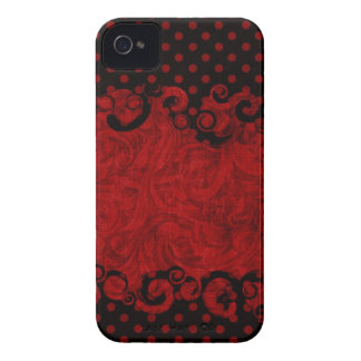 Chic Red and Black Damask Blackberry Bold Cover