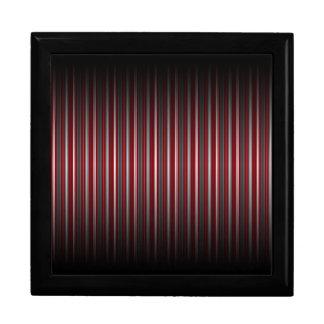 Chic Red and Gray Stripe Pattern Keepsake Box