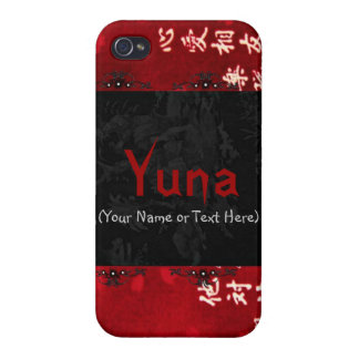 Chic Red Japanese Art Covers For iPhone 4