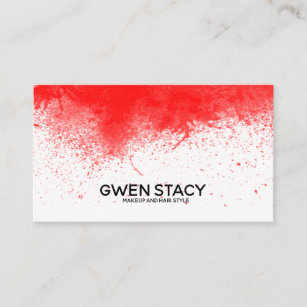 Red paint splash business cards zazzle chic red paint splash on plain white business card colourmoves