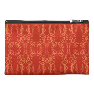 Chic Red Poppy Outline,  Accessories Bag