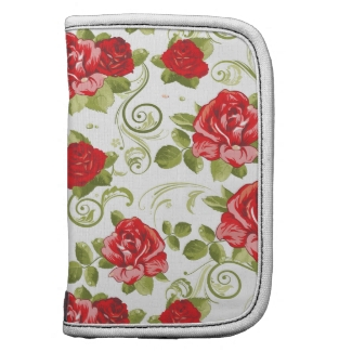 Chic Red Roses Floral Pattern