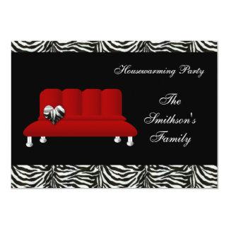 chic red sofa , party Invitation