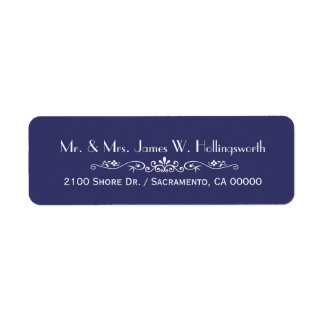 Chic Regency Blue Custom Return Address Label