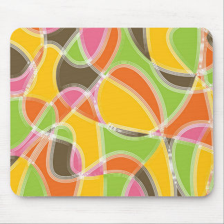 Chic Retro Mod Art Colorful Summer Pattern Mouse Pad